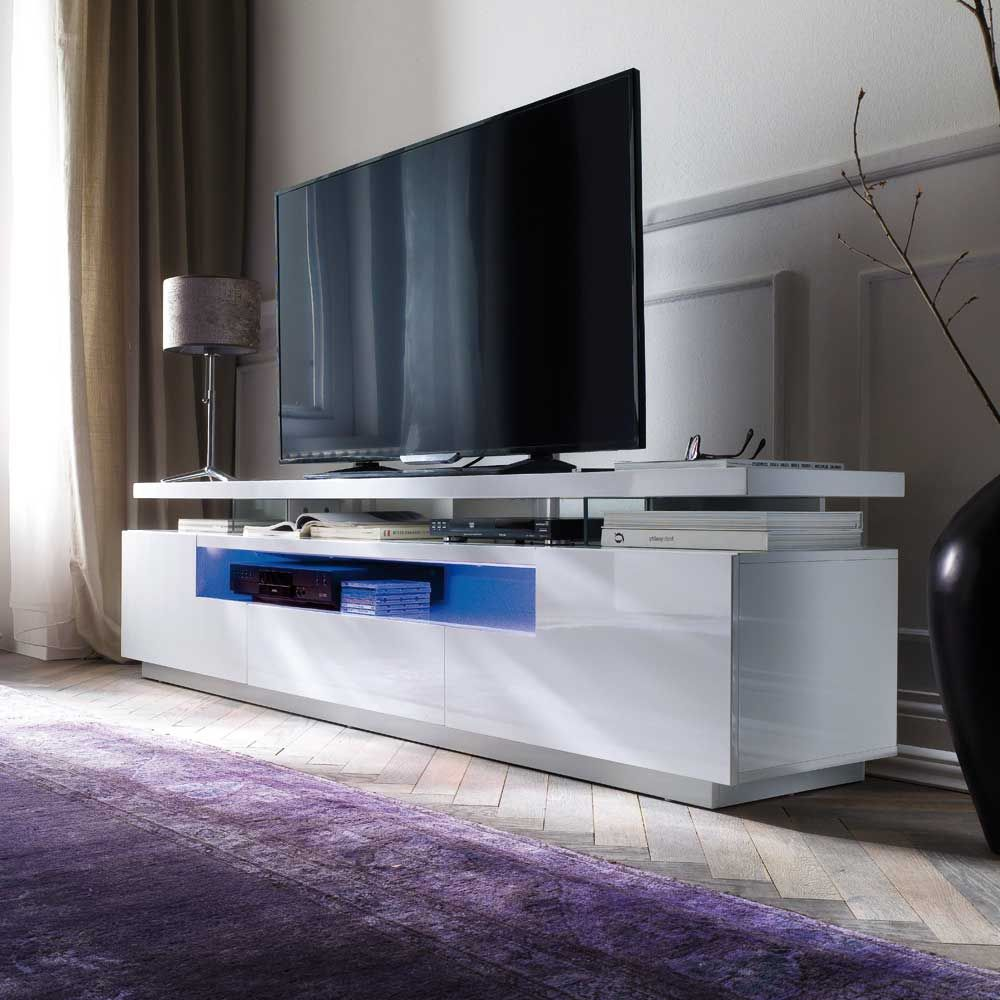 TV Sideboard in Weiß Hochglanz LED Beleuchtung Jetzt bestellen unter ...