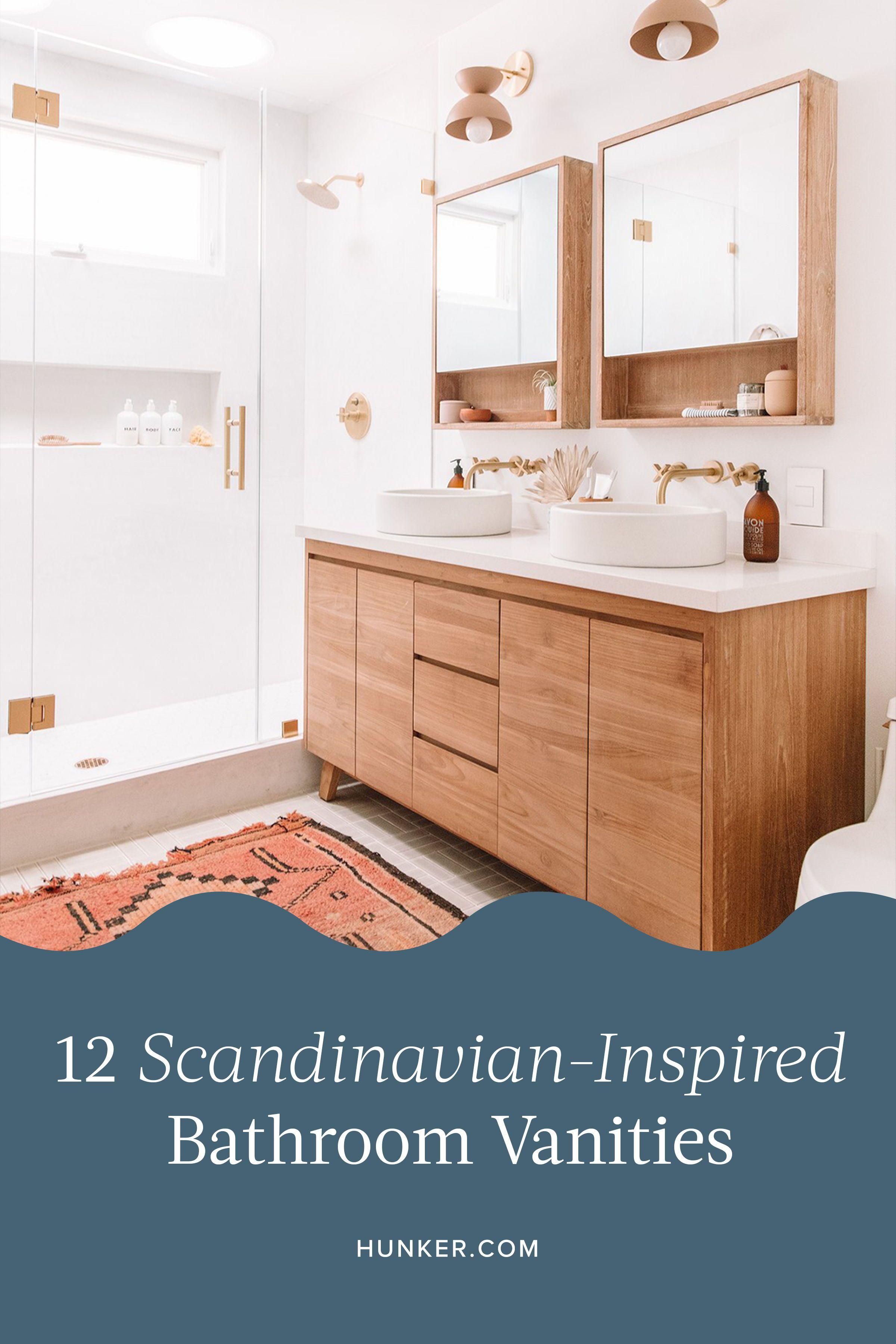 12 Scandinavian Inspired Bathroom Vanities That Prove Less Is More Hunker Bathroom Vanity Bathroom Vanity Designs Scandinavian Bathroom