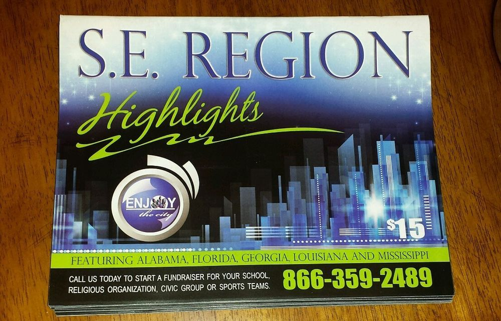 Enjoy The City Coupon Books S E Region Lot Of 7 Florida Georgia Alabama Ms La Florida Georgia Alabama Florida
