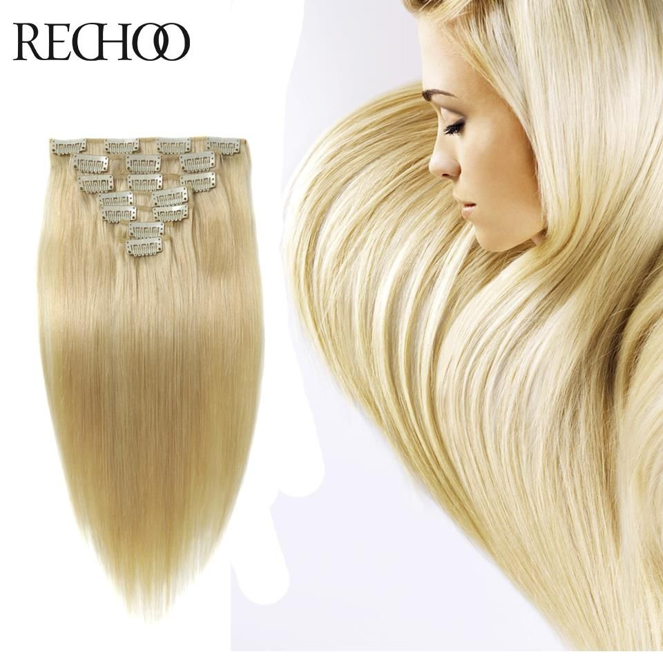 Remy brazilian hair clip extensions blonde pop clip in hair