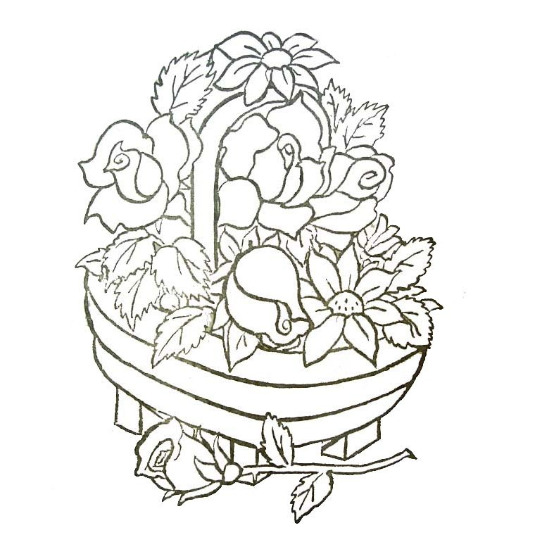Coloriage Fleur Imprimer.Epingle Par Wanda Johnson Sur Coloring Pages Panier De