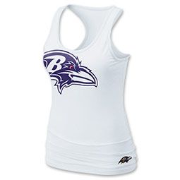The Nike NFL Ravens Women s Tank Top features a racerback design for  added comfort 55cdaf775
