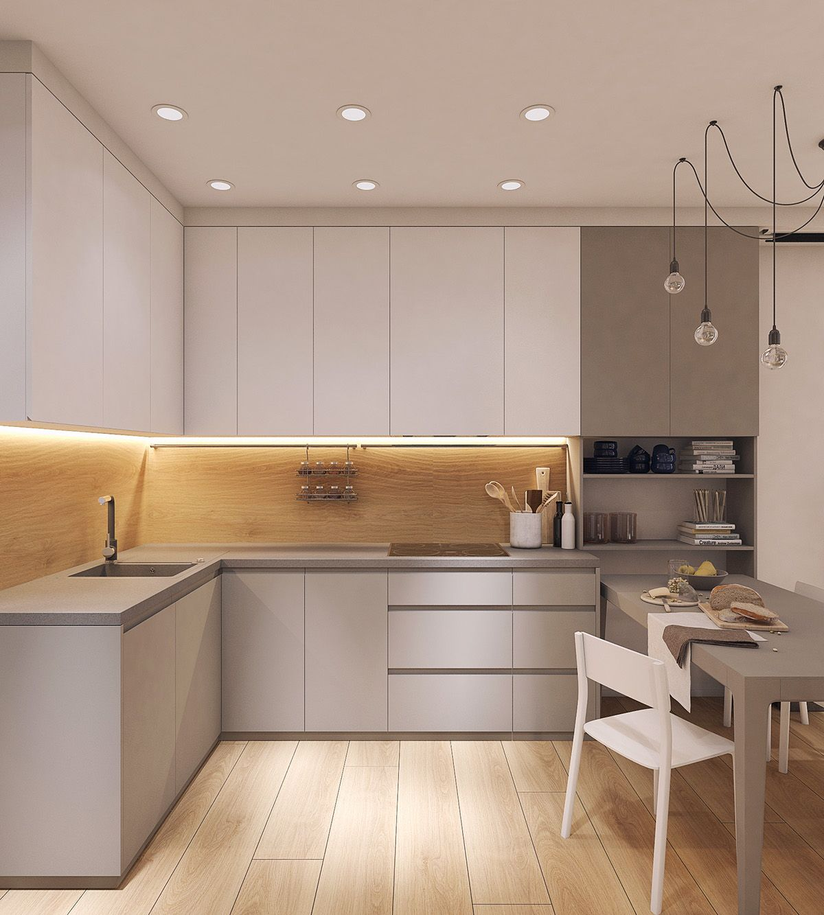 Moderrn apartment in comfort town on behance kitchen extension