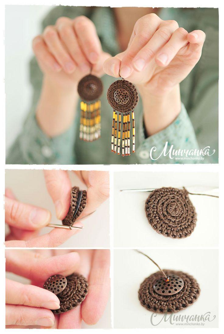 Crochet earrings pattern, drop earrings, romantic wedding jewelry.