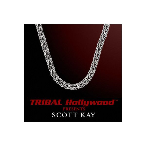 c25f46cb86f020 DOBERMAN 3mm Scott Kay Mens Sterling Silver Chain Necklace ($200) ❤ liked  on Polyvore