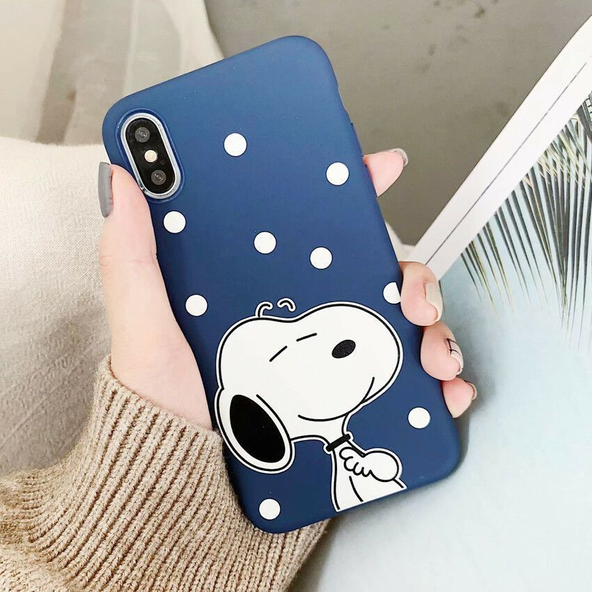 Niedliche Snoopy Cartoon Silikon Handyhülle Abdeckung Für Iphone 8 7 6 Plus X Xs Max Xr Phone Covers Iphone Iphone Handyhülle Iphone 8