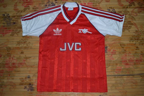31d27dcae0c Very Rare Vintage 80s ARSENAL 1986-1988 Football home Jersey Adidas promo  Boys L size T-shirt