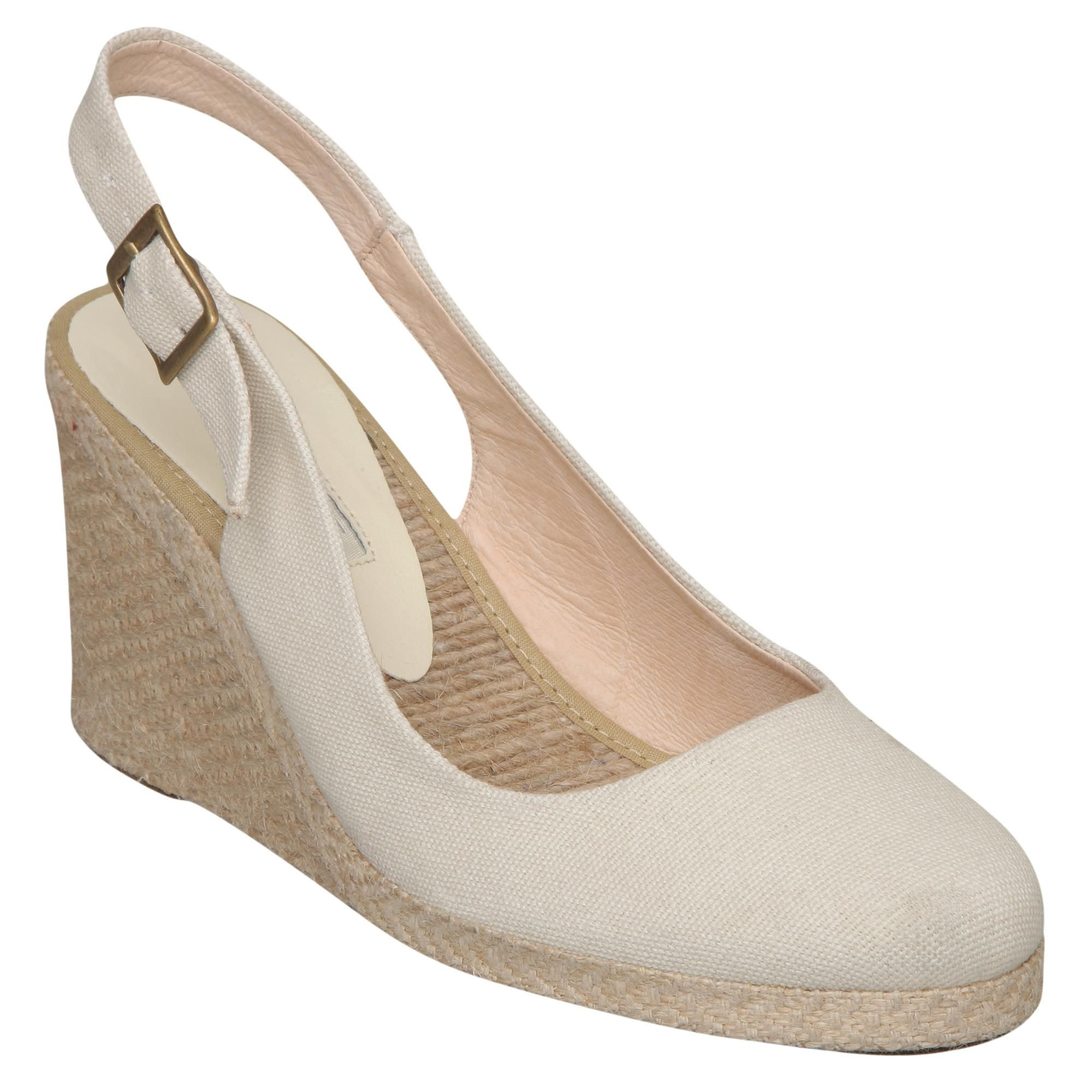 d774a6eef Pied a Terre Ladies Neutral IMPERIA - Simple Slingback Espadrille Wedge    Dune Shoes Online