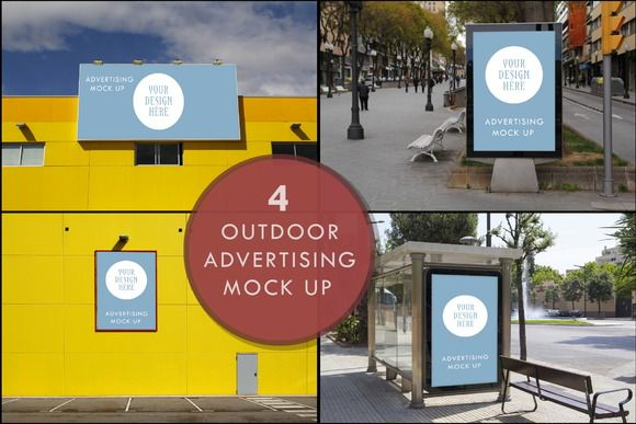 Advertising outdoor mock up by agafapaperiapunta on @creativemarket