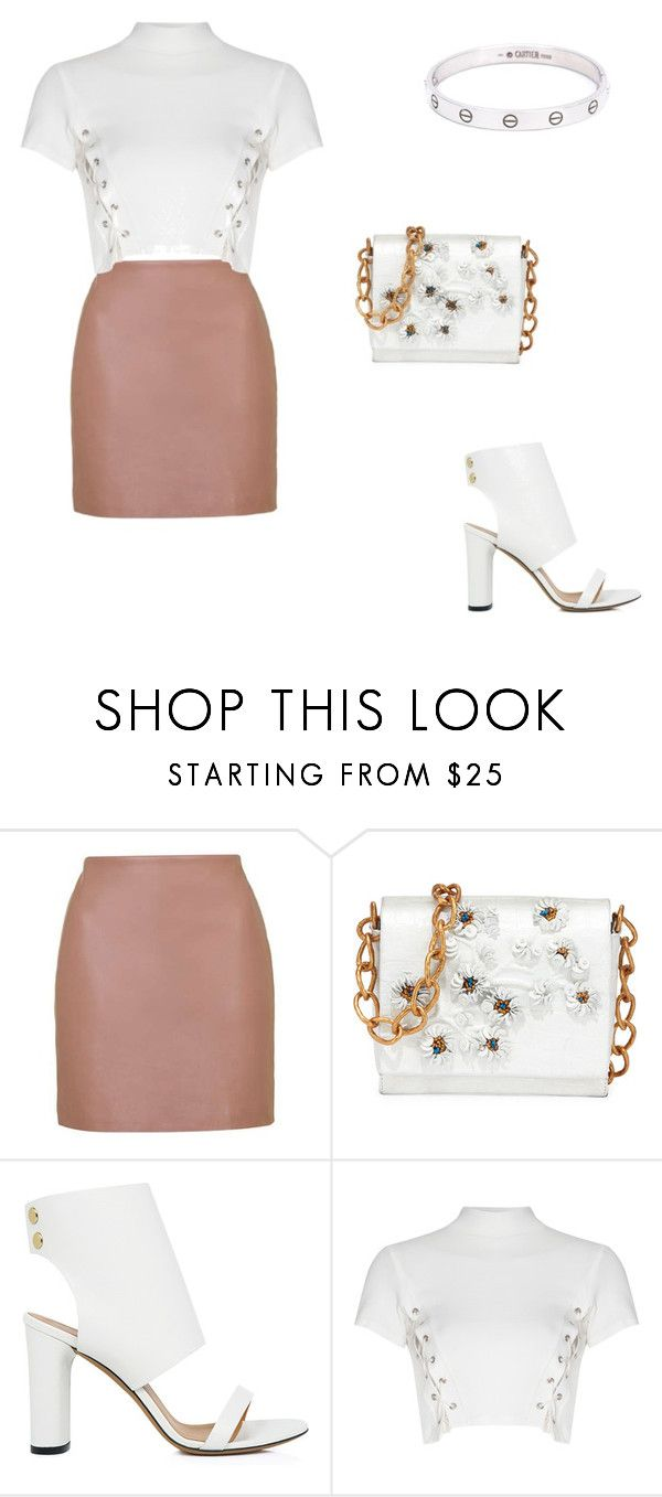 """""""Untitled #149"""" by sarahavamarie ❤ liked on Polyvore featuring Topshop, Nancy Gonzalez, IRO, Glamorous, Cartier and WardrobeStaples"""