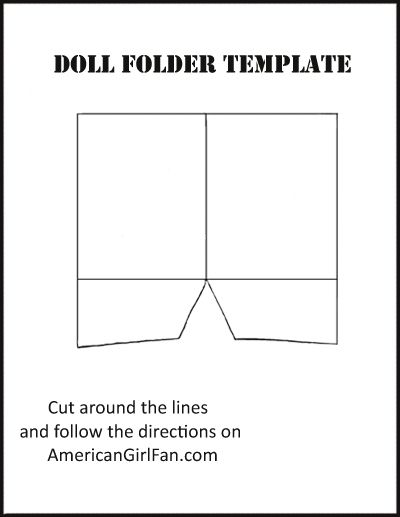 Doll Craft: Make School Folders (With Free Printables ... #americangirldollcrafts