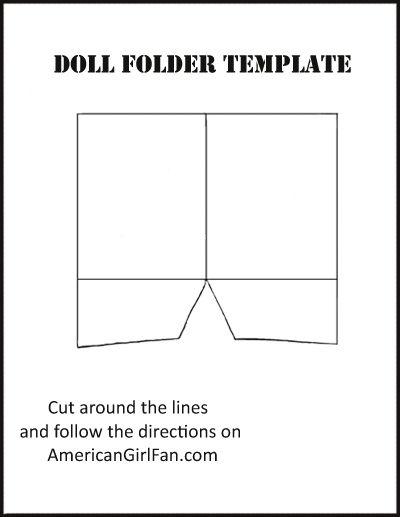 Doll Craft: Make School Folders (With Free Printables ... #americangirldollcrafts