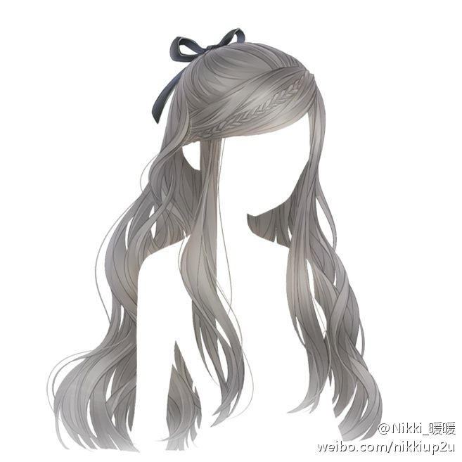 anime hair long with braid desenho