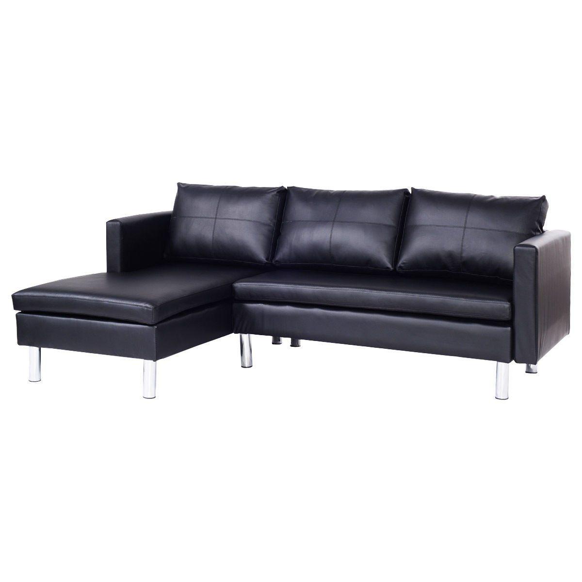 Ghp Black Pvc Leather Padded Cushion