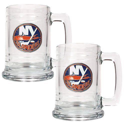 Nhl 15oz Glass Tankard 2 Piece Set Primary Logo Nhl Team New York Islanders By Great American Products 54 55 Brand New G Mugs Mugs Set San Antonio Spurs