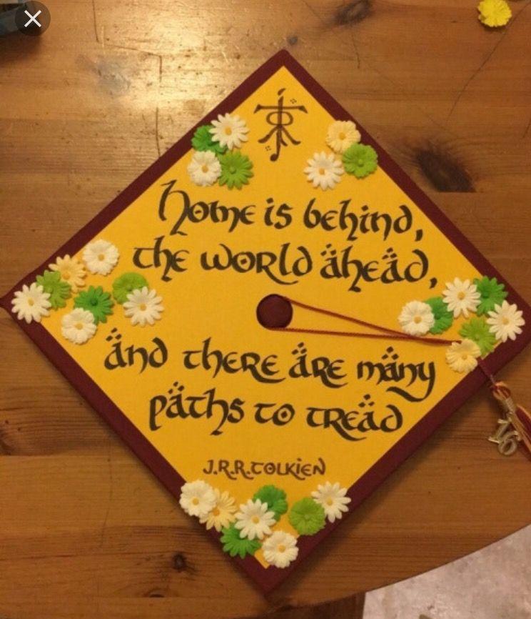 Lord Of The Rings Graduation Idea College Graduation Cap Decoration Graduation Cap Decoration Education Graduation Cap