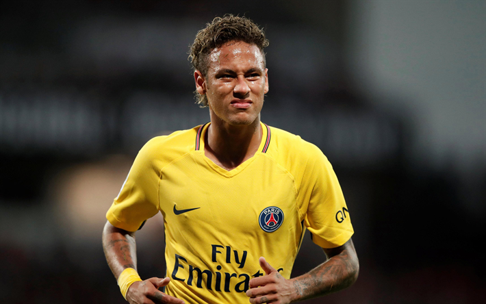 on sale ac4d7 cf8e8 Download wallpapers Neymar Jr, Brazilian footballer, PSG ...