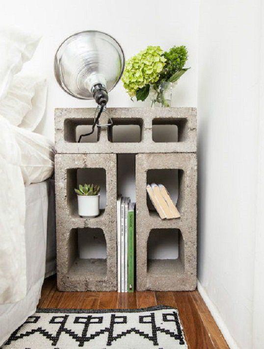 mesita de noche ladrillo En casa Pinterest Apartment ideas
