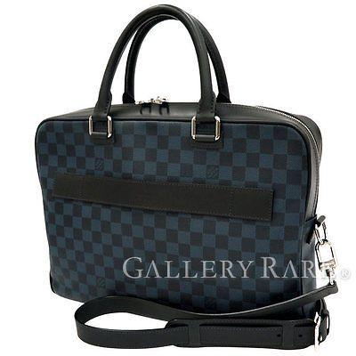 Auth-Louis-Vuitton-Damier-Cobalt-Business-Bag-2way-Shoulder-N41347-GR-1822670