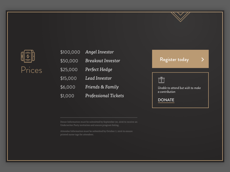 Pricing list by Michael Lvnd