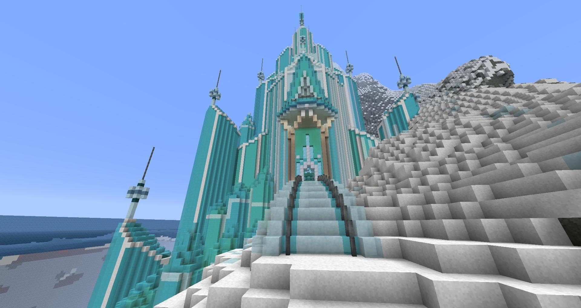 Building Elsa In Minecraft