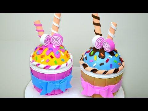 8ec4fa765 Cupcake en Foami (Cajita) │Espacio Creativo | Cupcakes | Pasteles ...