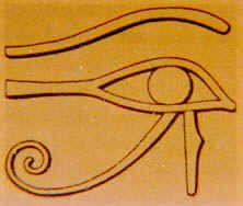 The Right Eye of Horus represents concrete factual information controlled by the left brain. It deals with words, letters, and numbers and those things which are describable in terms of sentences or complete thoughts. It approaches the universe in terms of male oriented ideation.