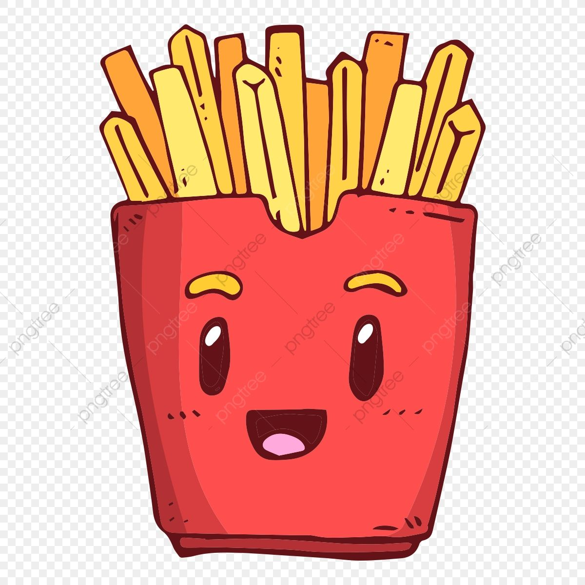 Smile Smiling Fries French Fries French Fries Smile Fries Clipart Cartoon Cartoon Fries Png And Vector With Transparent Background For Free Download French Fries Cartoon Food Artwork