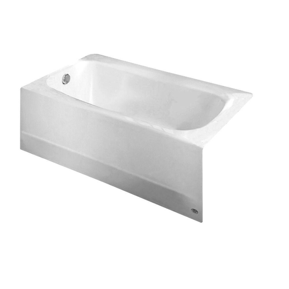 American Standard Cambridge 60 In Left Drain Rectangular Apron Front Bathtub In White 2460 002 020 The Home Depot