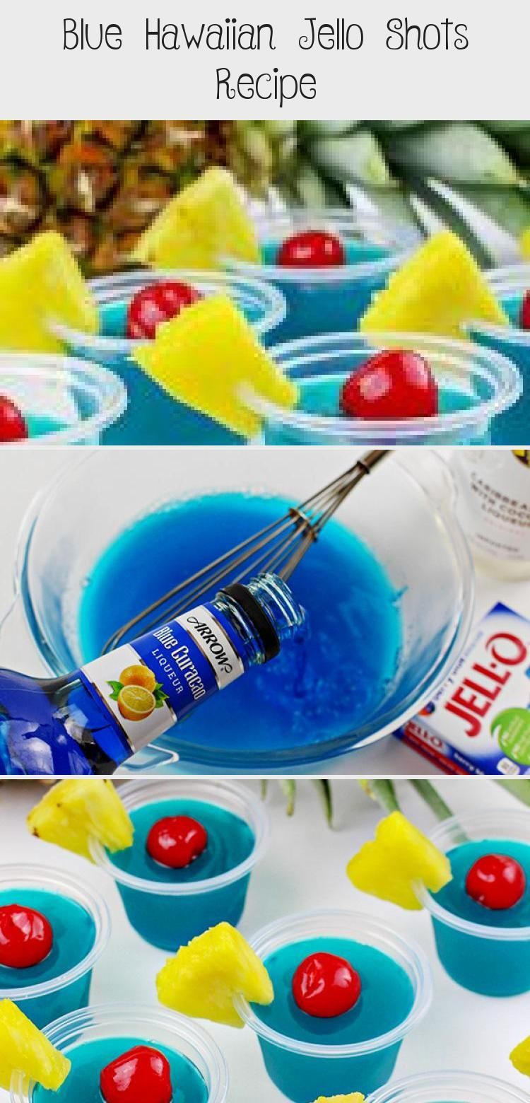A boozy, summery jello shot recipes for adults! This Blue Hawaiian Jello Shots R... - #adults #Blue #boozy #hawaiian #jello #recipes #shot #Shots #summery