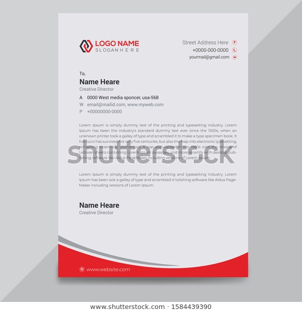 creative modern business letterhead design template career change resume objective statement examples cv format for internship doc professional free download