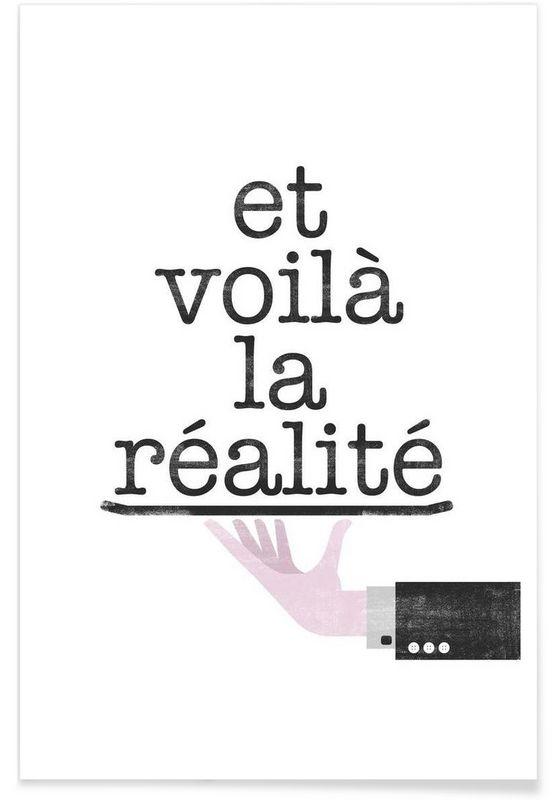 Réalité von typealive JUNIQE sprüche Pinterest Plakat, Haha