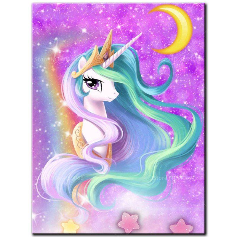 Find More Diamond Painting Cross Stitch Information About 5d Diy Diamond Painting Full Square Drill E Unicorn Wallpaper Cute Unicorn Wallpaper Unicorn Painting