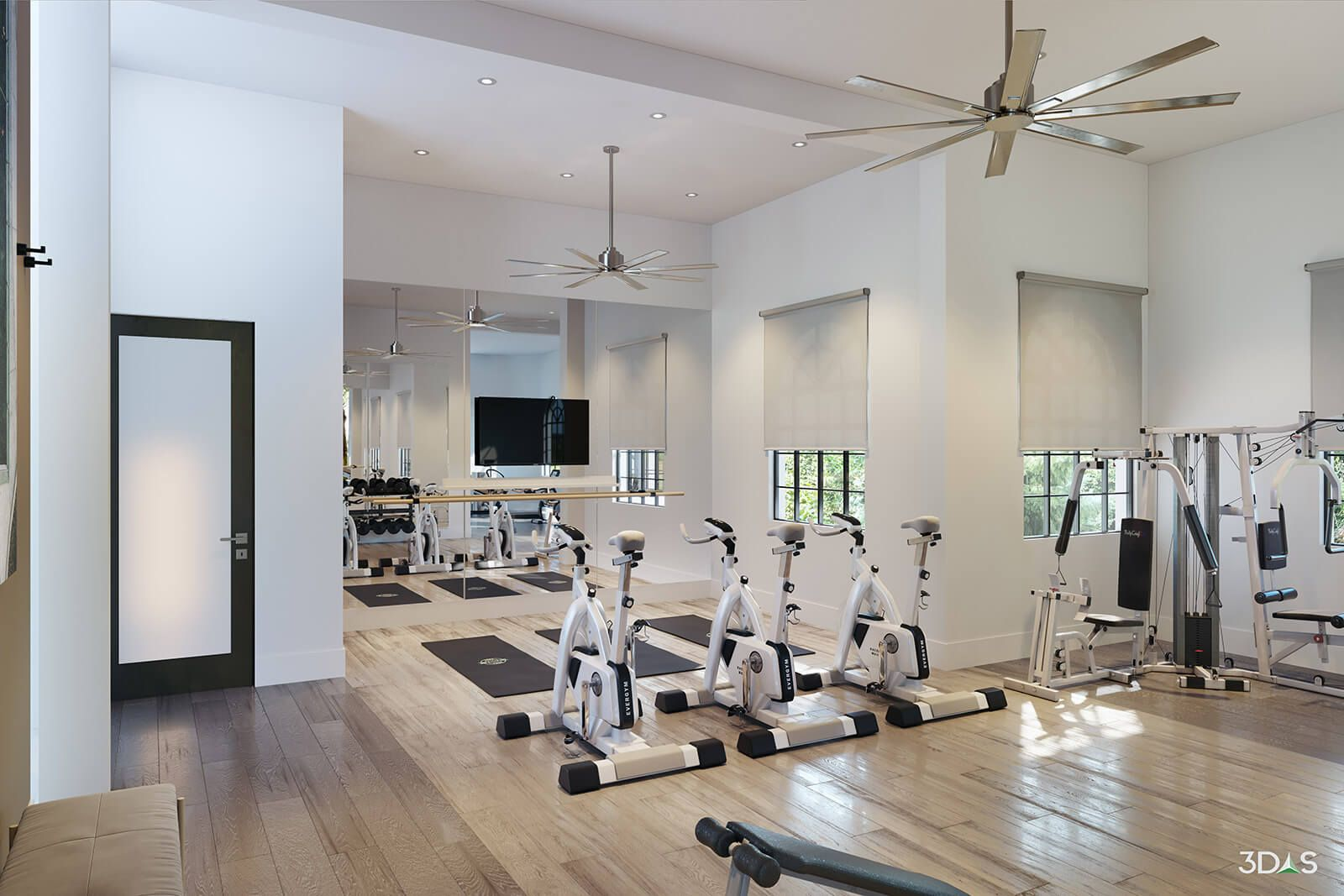 Fitness Gym 3d Rendering Home Decor Home Interior