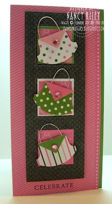 Stampin' Up!  Round Tab Punch. Gotta love a purse card!