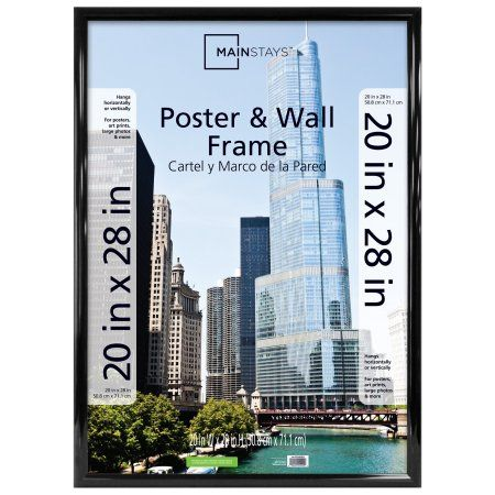 Mainstays Ms 20x28 Rounded Black Poster Frame Products Decor