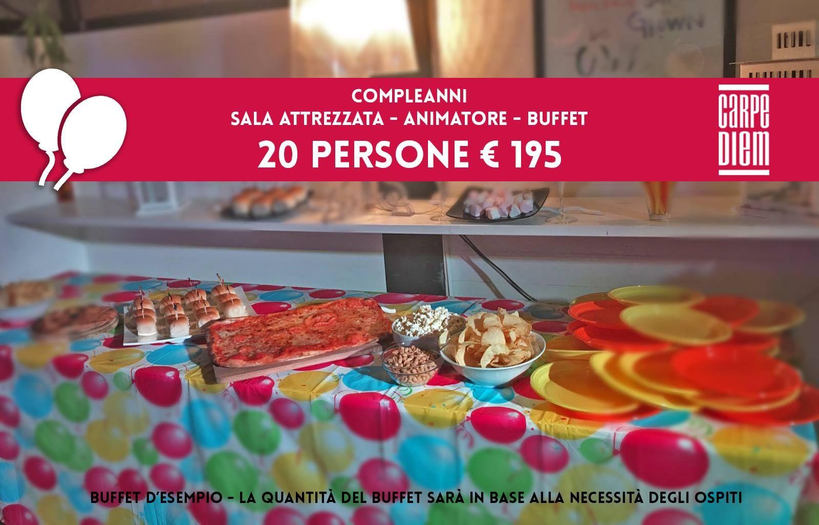 Offerta Per Compleanni E Feste Da Ristorante Pizzeria Pub Carpe
