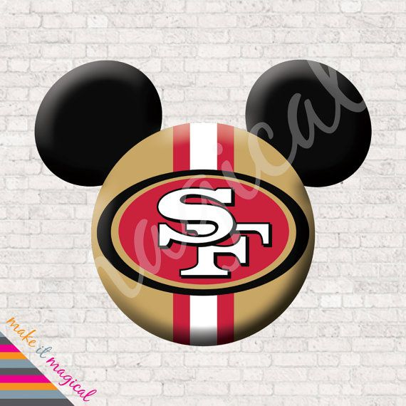 49ers Mickey Mouse Head Digital Download San by MakeitMagical