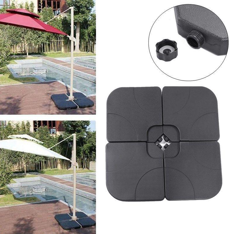 4pcs Umbrella Base Plastic Sunshade Tent Water Tank Sand