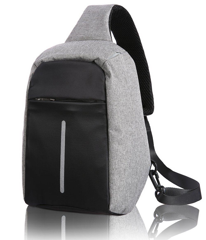 9b4b00ba80 HARDBLOW Anti Theft Sling Bag Crossbody Chest Shoulder Backpack Daypack  Hiking Travel Camping Outdoor Hiking Men