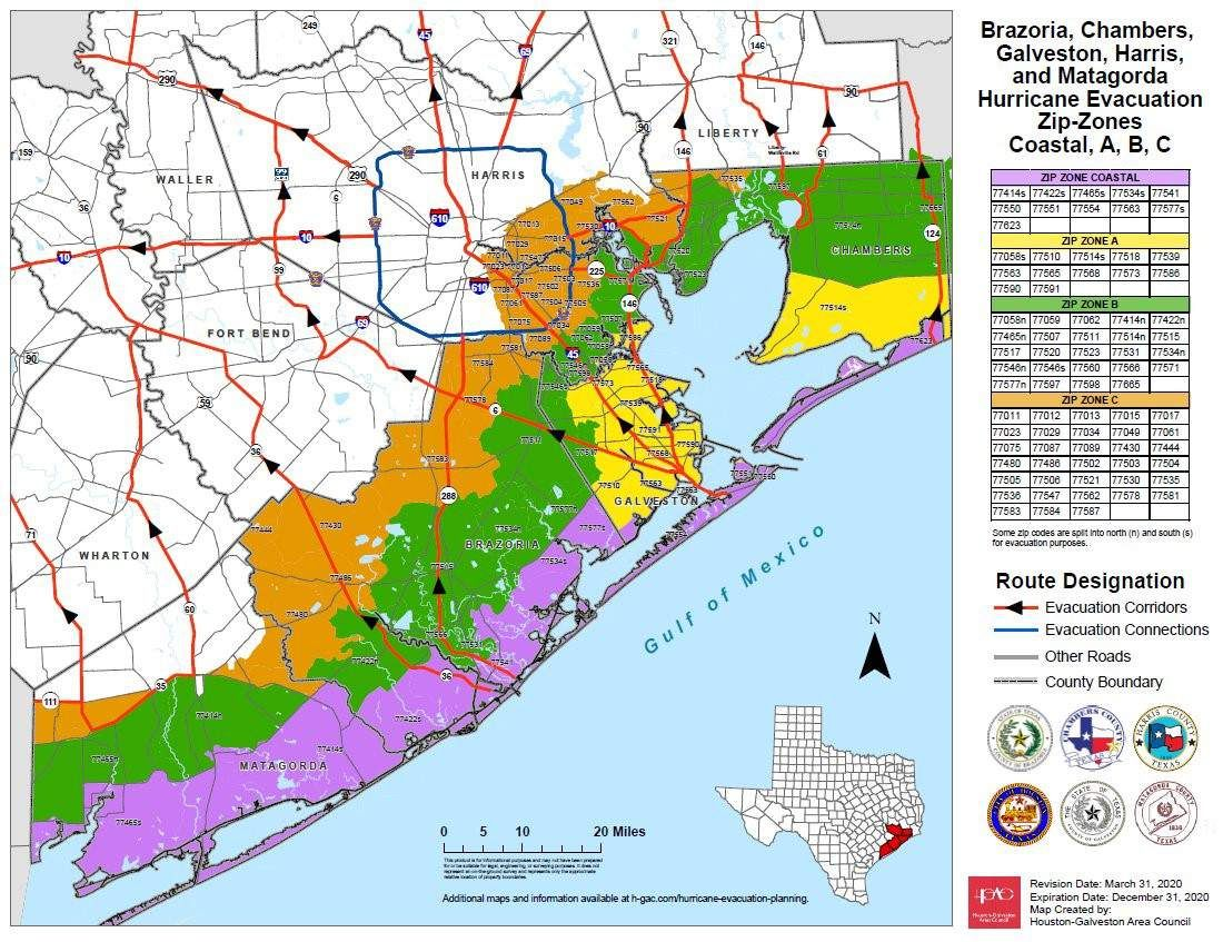 Evacuations These Are All The Evacuation Orders In Place In The Houston Area In 2020 Evacuation Hurricane Evacuation Galveston