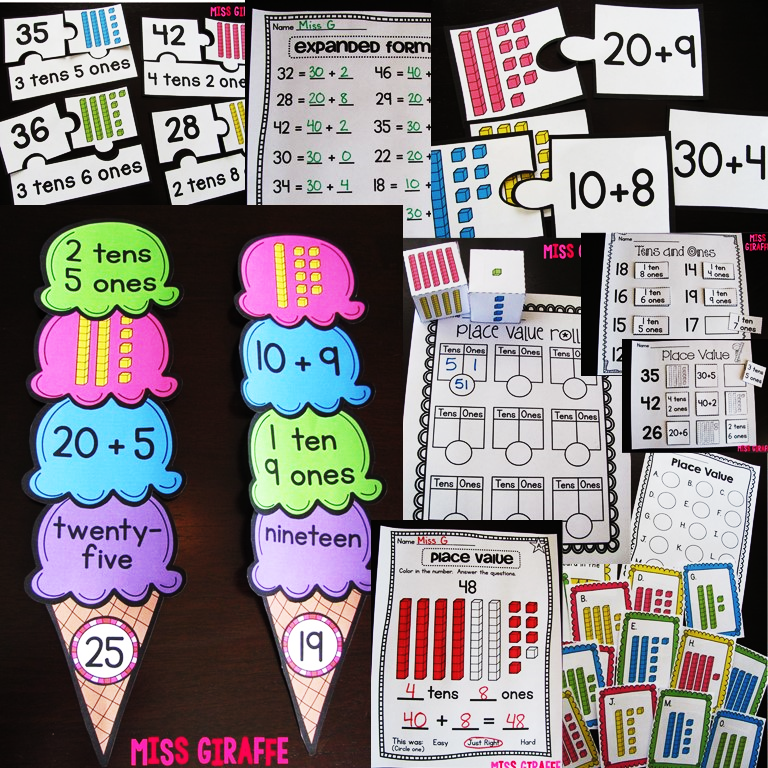Miss Giraffe\'s Class: Place Value in First Grade | Numeracy | Pinterest