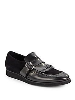 Suede & Leather Loafers