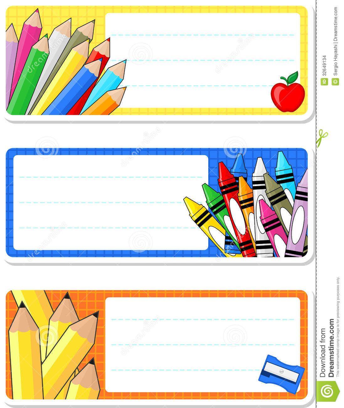 School Labels School Labels