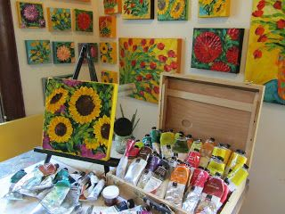 AZ Life and Style -Chic Home Decorating Ideas, Entertaining, Recipes and more: Fabulous Art Studios: Jan Ironside