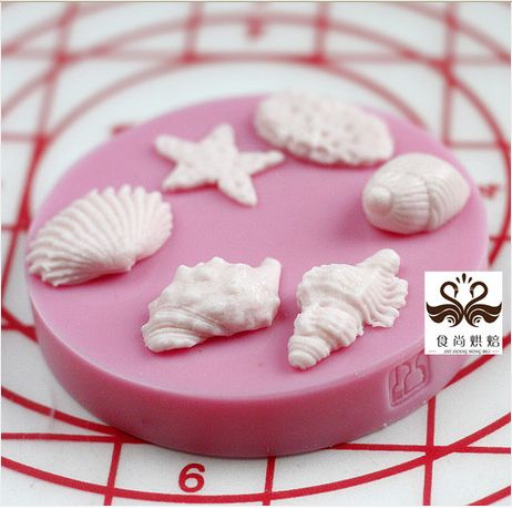 Cameo MINI Silicone fondant decorating cake mold Conch shells starfish  shape silicone mold-in Cake Molds from Home & Garden on Aliexpress.c...