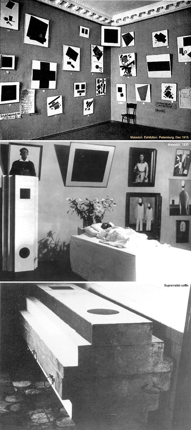 "Malevich. Exhibition ""0.10"". Petersburg. Dec 1915, Kazimir Severinovich Malevich (1879-1935), Suprematist coffin"