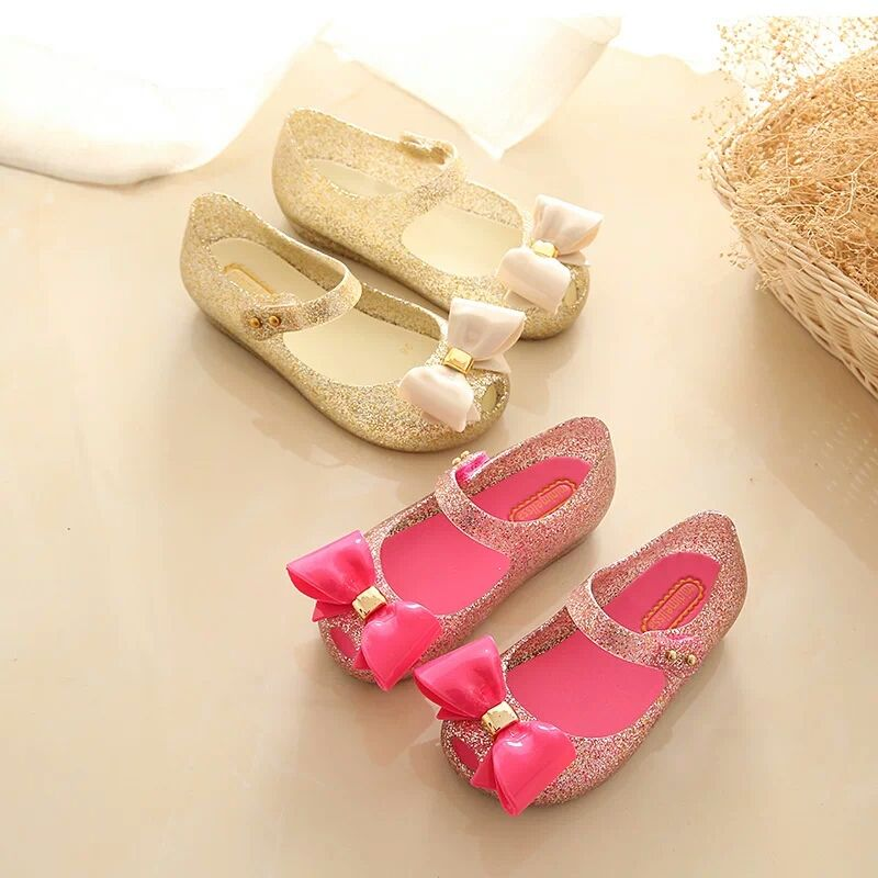Summer Girls Sandals Mini Melissa Girls Jelly Shoes Kids Slipsole Wedge  Heel Children Sandals Princess Kids Shoes 05ea8ef81fce