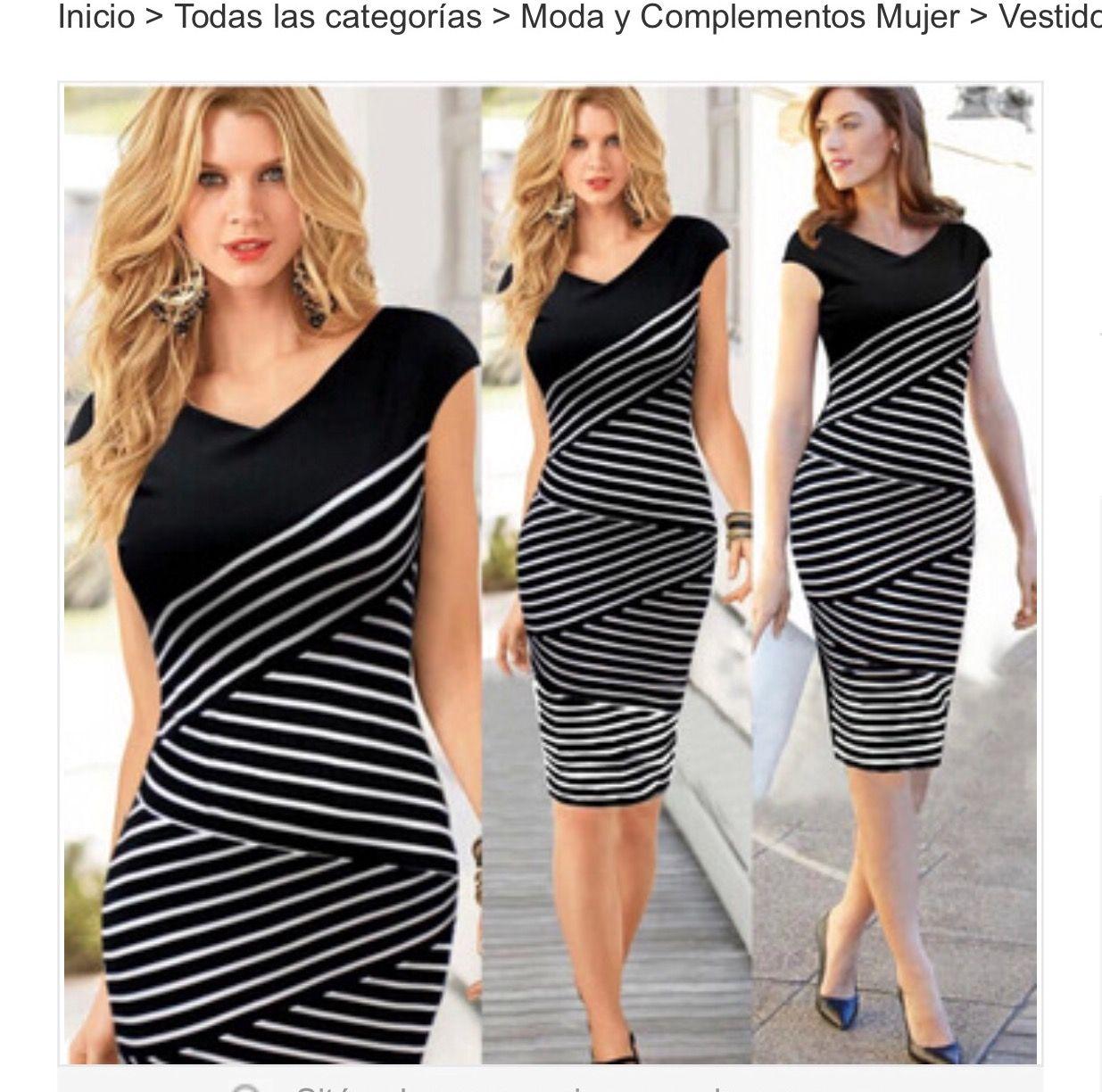 e9cc813b4 Encuentra Elegante Vestido Moda Coreana Negro Rayitas Blancas Talla S -  Vestidos en Mercado Libre Perú! Descubre la mejor forma de comprar online.