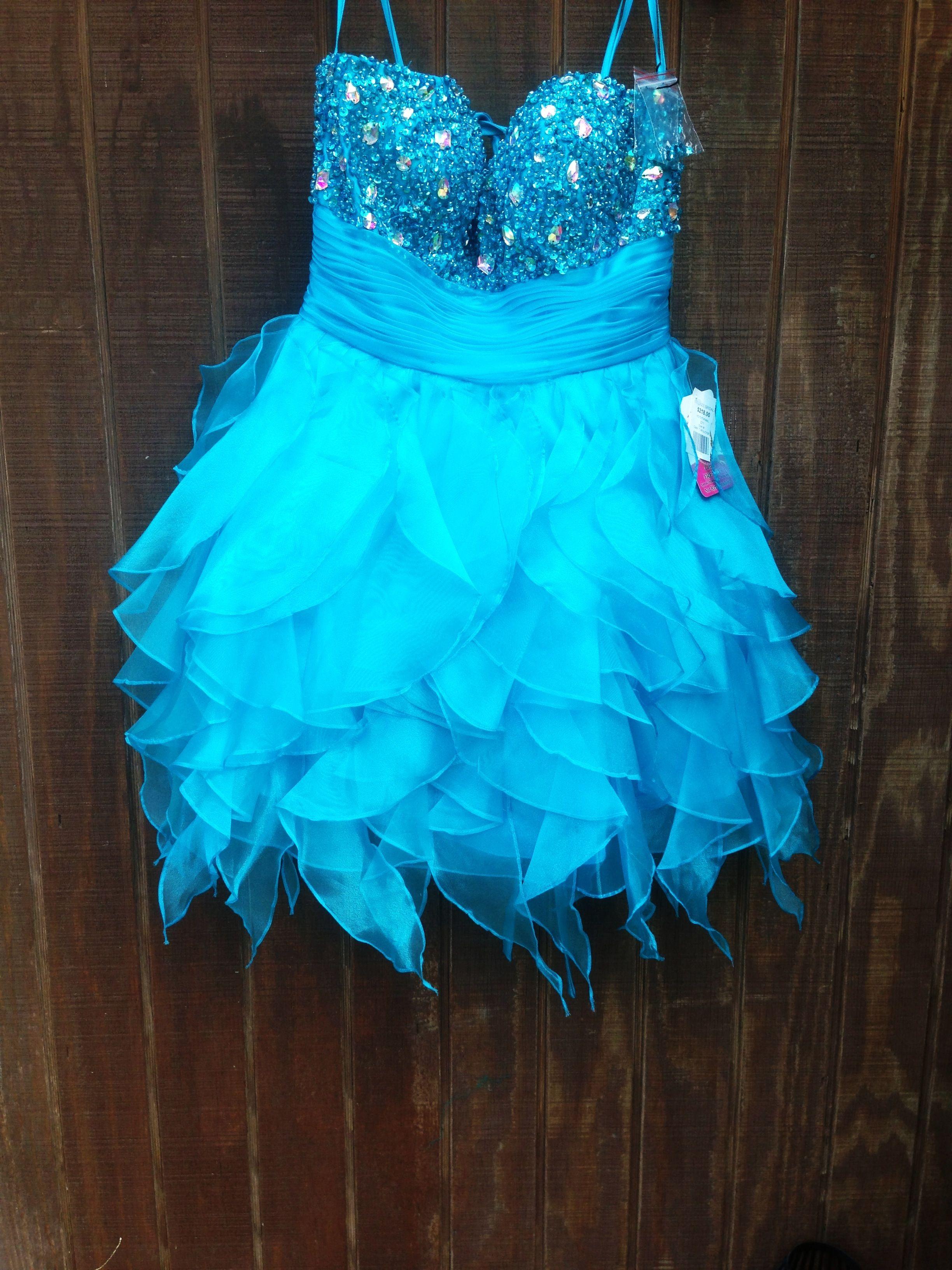 Blue semi formal dress. dazzling dress rentals in riverton Utah ...
